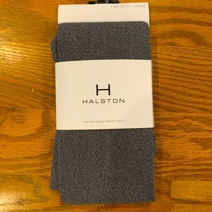 NWT Halston Opaque Footed Tights Size Large/XL